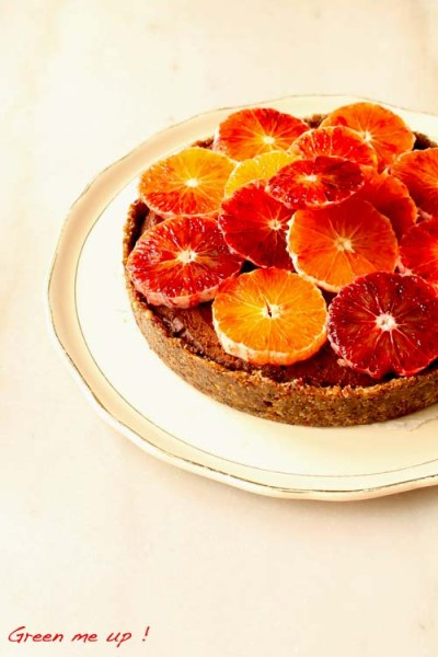 tarte chocolat panais orange