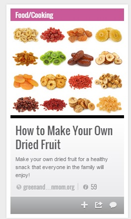 How to make your own dried fruit!