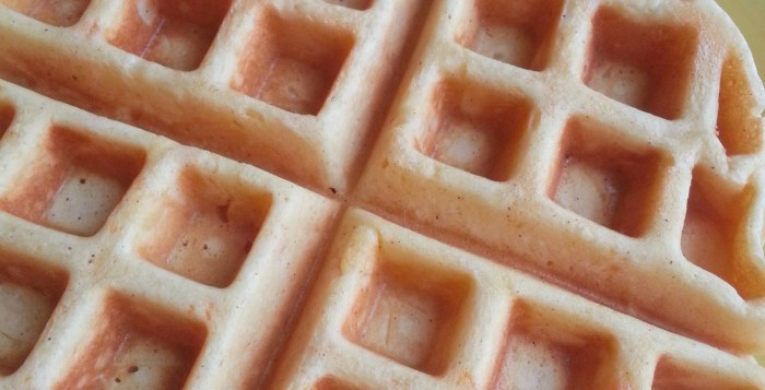 Leftover Sweet Potato Casserole Waffles