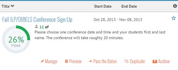 Volunteer Spot Conference Sign-Up