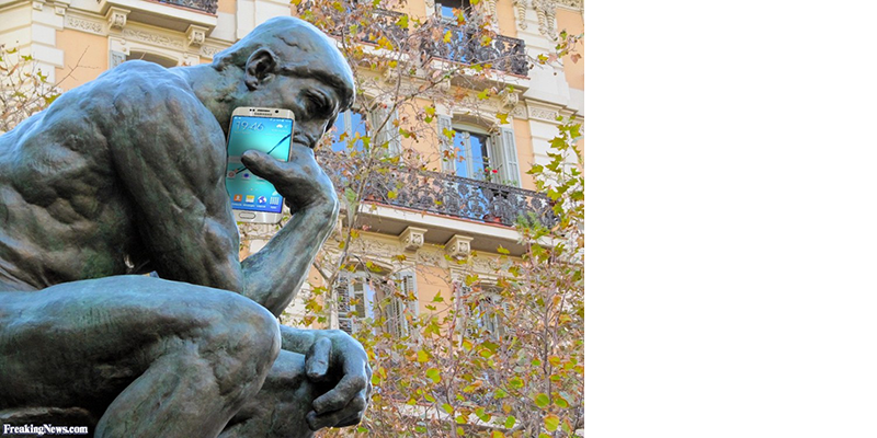 thinker-with-cellphone