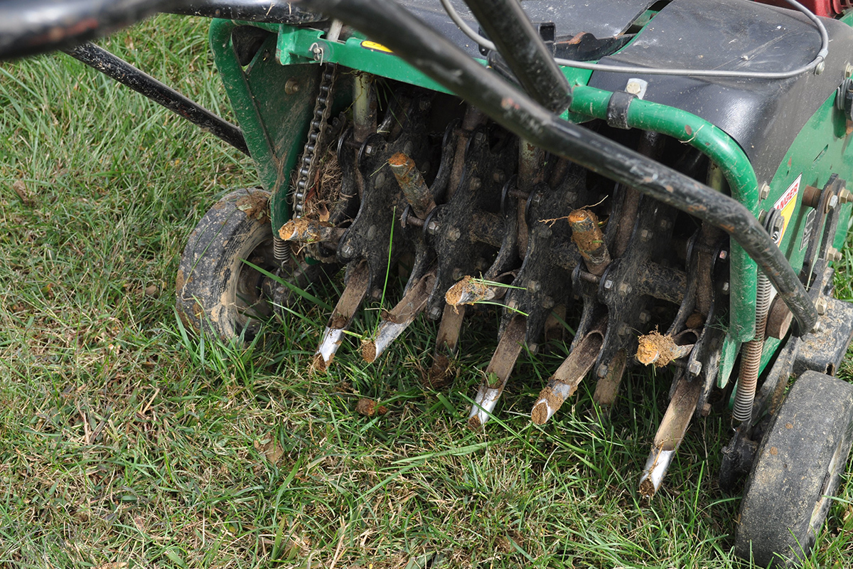 Grass Aerator Why Core Aeration Green Care Turf Management