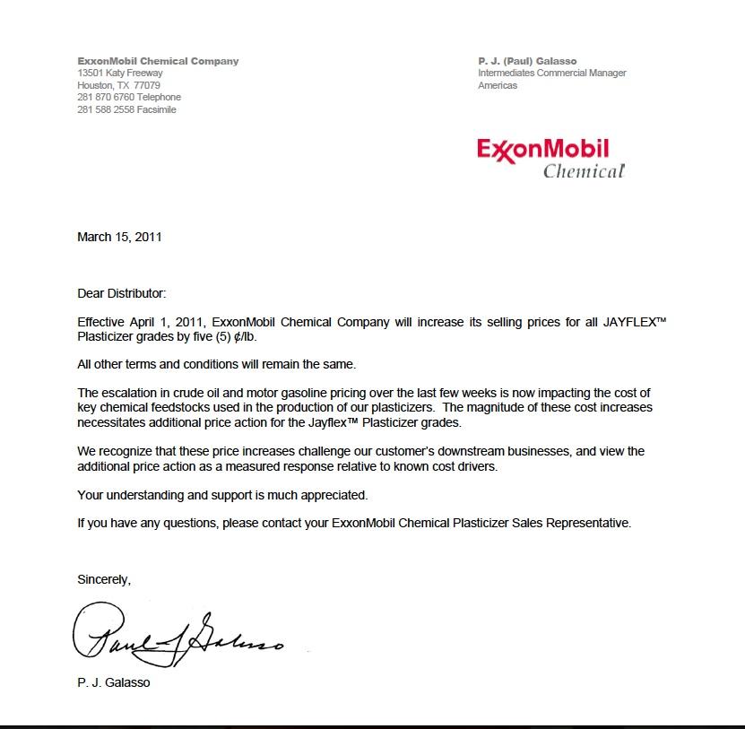 exxonmobil cover letter