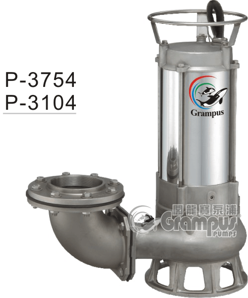 Industrial Faucet P Series Stainless Steel Sus316 Sewage Submersible Pump