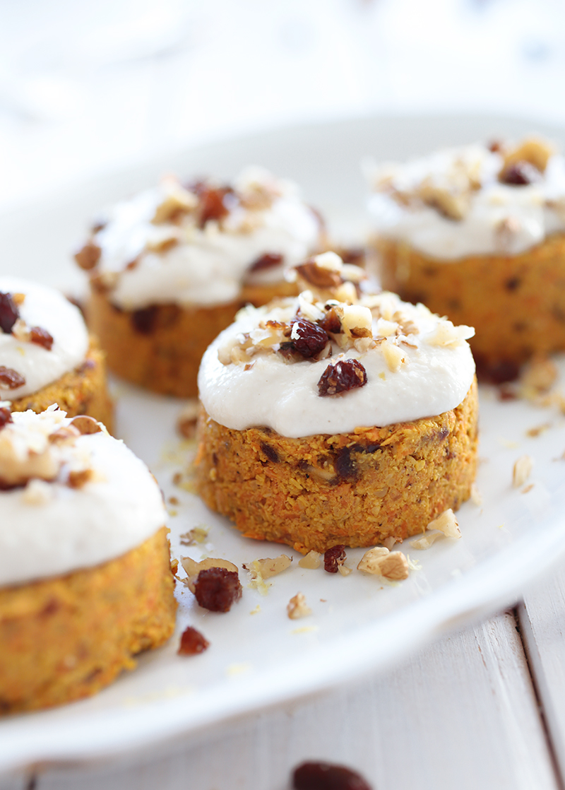 Raw Carrot Cake With Cashew Frosting Green Evi
