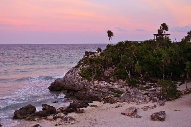 Sunset at Piedra Escondida in Mexico's Riviera Maya