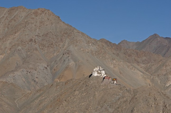 Leh monastery on a hill