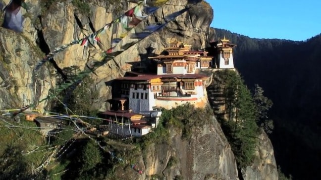 Paro Taktsang, a.k.a. Tiger's Nest Monastery, in Bhutan