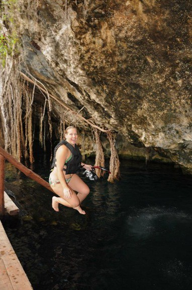 Swimming in Cenotes in the Riviera Maya, Mexico