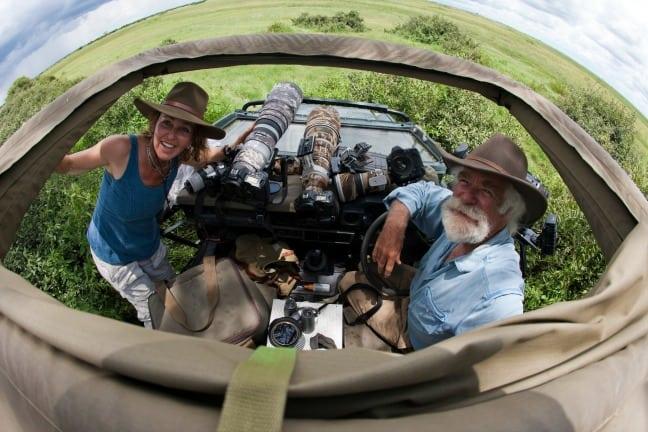 Dereck and Beverly Joubert in Botswana