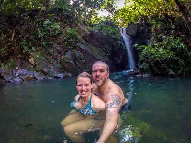 Waterfall at Cockscomb_Basin_Wildlife_Sanctuary