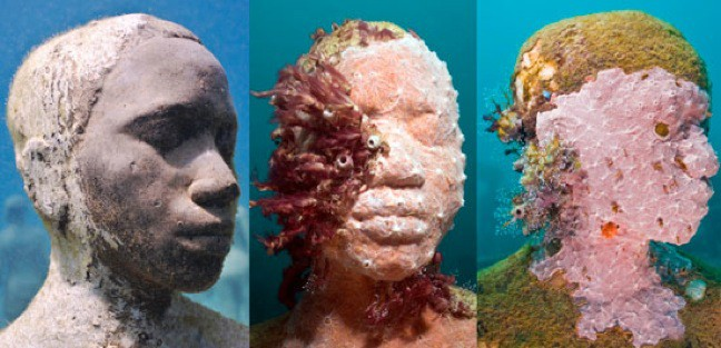"""Man On Fire"" Sculpture, Cancun Underwater Museum"