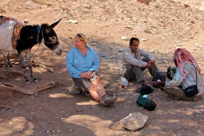 Sharing Bedouin Tea in Jordan's Dana Biosphere Reserve