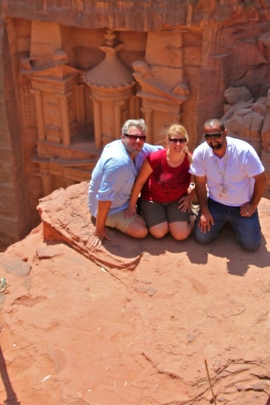 With our guide, Ali Abudayeh, above the Treasury in Petra
