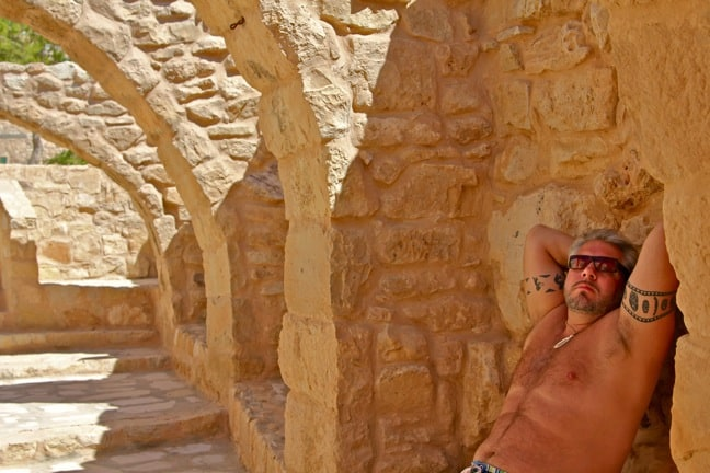 Nearly Naked for Charity in Petra, Jordan