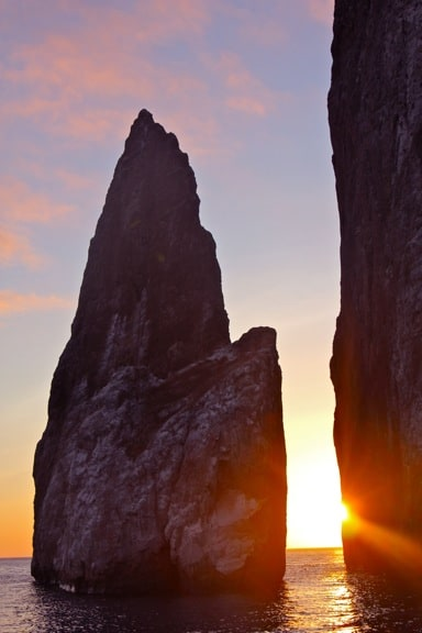 Sunset on Kicker Rock, Galapagos Islands