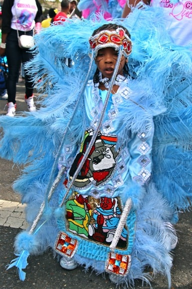Mardi Gras INdians on Super Sunday in New Orleans