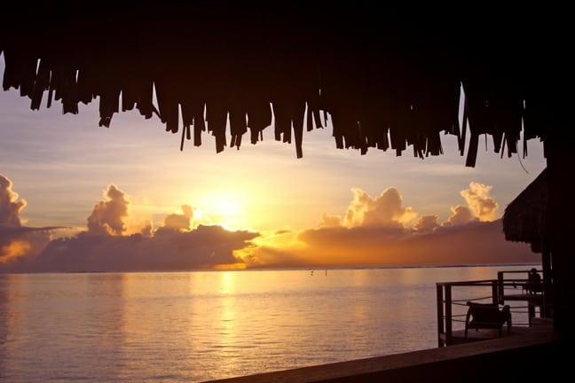 Sunrise Over Moorea, Tahiti