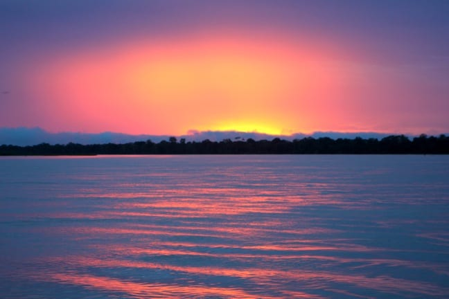 Sunset on The Peruvian Amazon