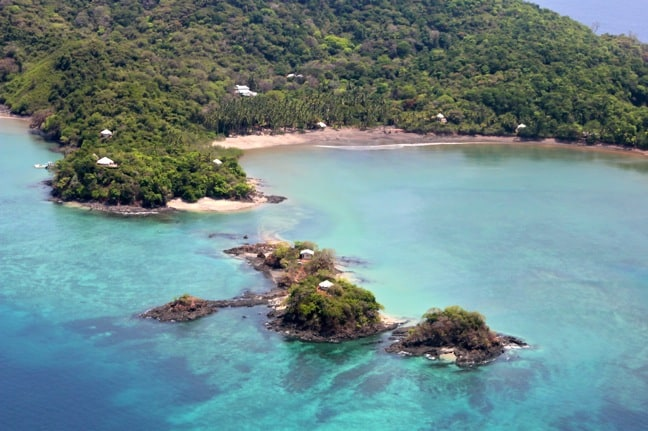 An Aerial View of Islas Secas, Panama