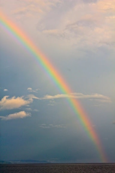 Rainbow over the Pacific Ocean, Panama