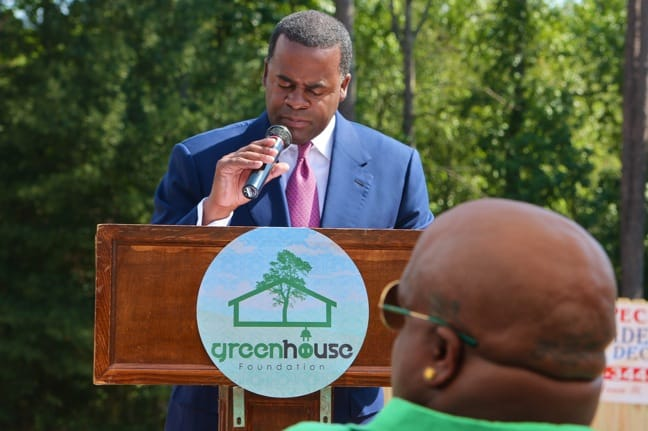 Atlanta Mayor Kasim Reed at GreenHouse Foundation Groundbreaking