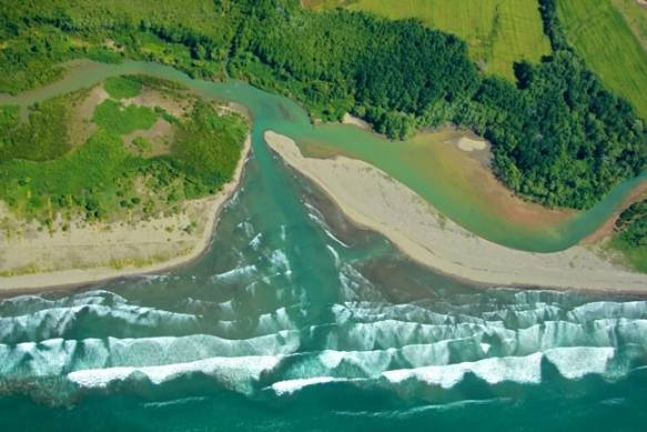 Bird's-Eye View of the Seaside Near Palmar Sur, Costa Rica