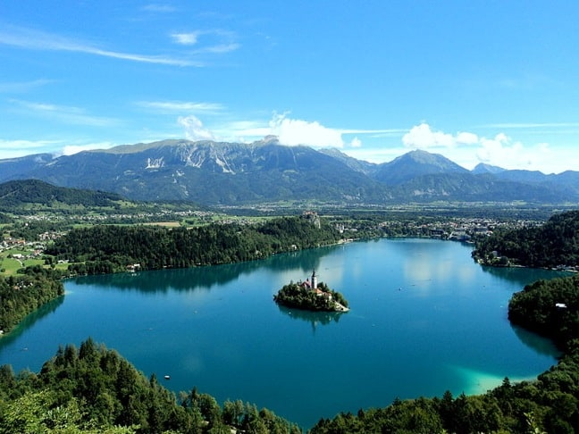 Mountain View of Lake Bled