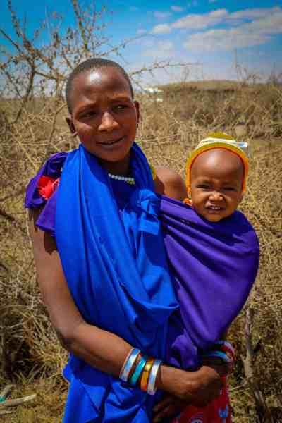 Maasai Mother & Baby