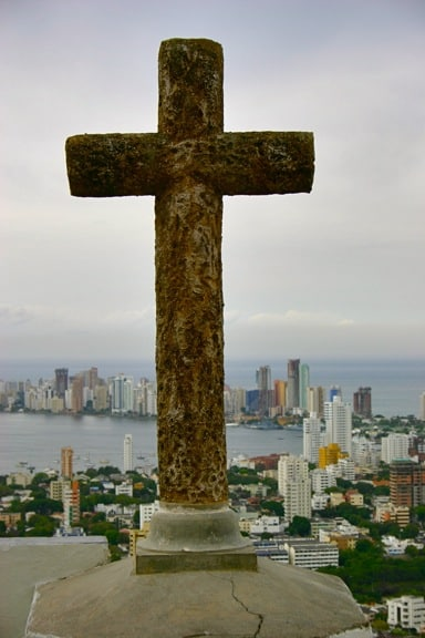 View of Bocagrande From La Popa in Cartagena, Colombia