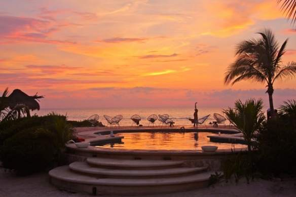 Sunset at Villas Flamingos in Isla Holbox, Mexico