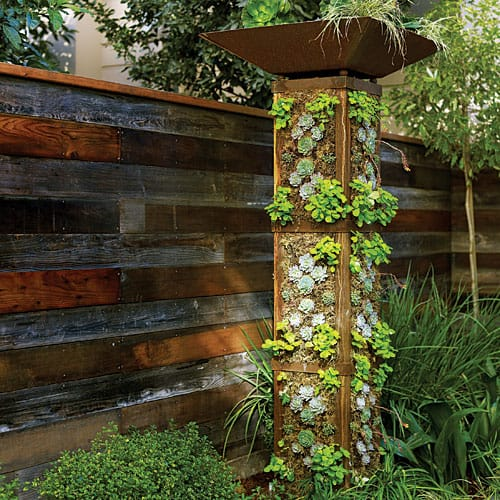 Go green tip 99 how to make a do it yourself vertical garden Garden tube