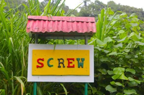 Screw's Sulphur Spa Sign, Dominica