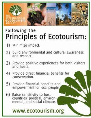 TIES' Principles of Ecotourism