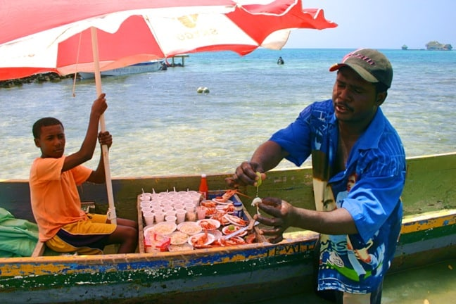 Lobsterman in the Rosario Islands, Colombia