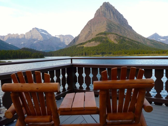 The Scenic View From Many Glacier Hotel, Glacier National Park