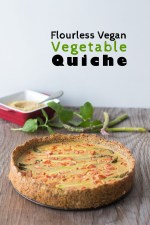 Flourless Vegan Vegetable Quiche
