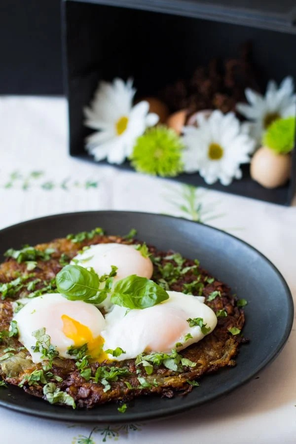 Swiss Roestie With Perfect Poached Egg Green Healthy Cooking