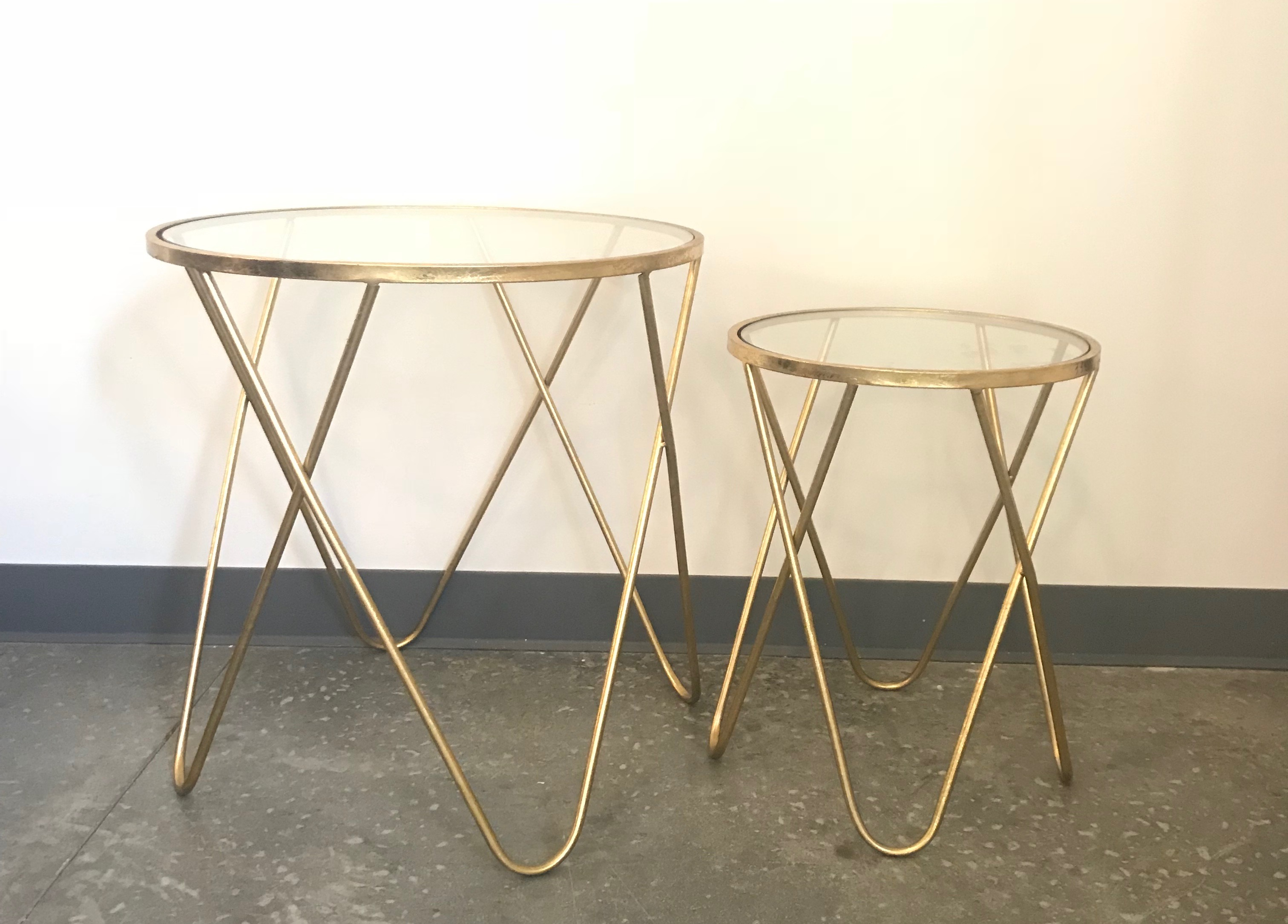 Gold Nesting Coffee Table Sheila Gold Nesting Tables Modern Classic And Elegant