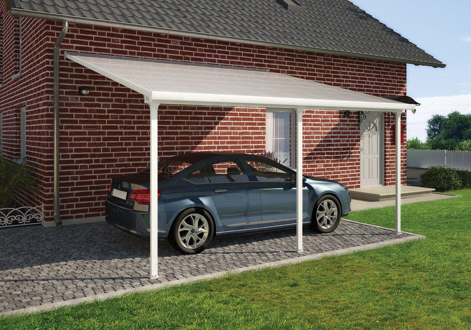 Store Banne 5m X 4m Palram Feria 4m Carport In 2 Lengths Greenhouse Stores
