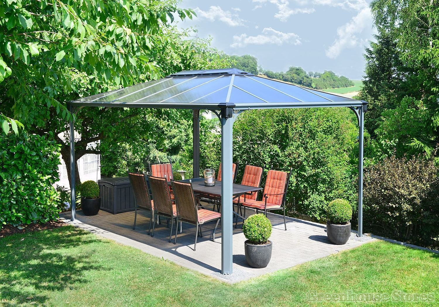 Gartenpavillon 3x4 Palram Martinique 4300 Rectangular Gazebo