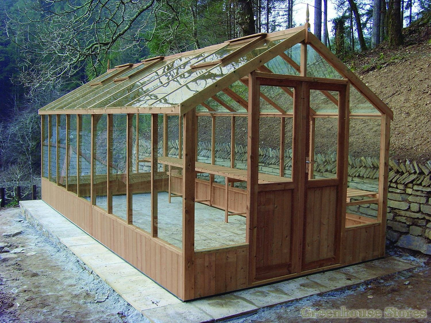 Serre 8x10 Swallow Raven 8x10 Wooden Greenhouse