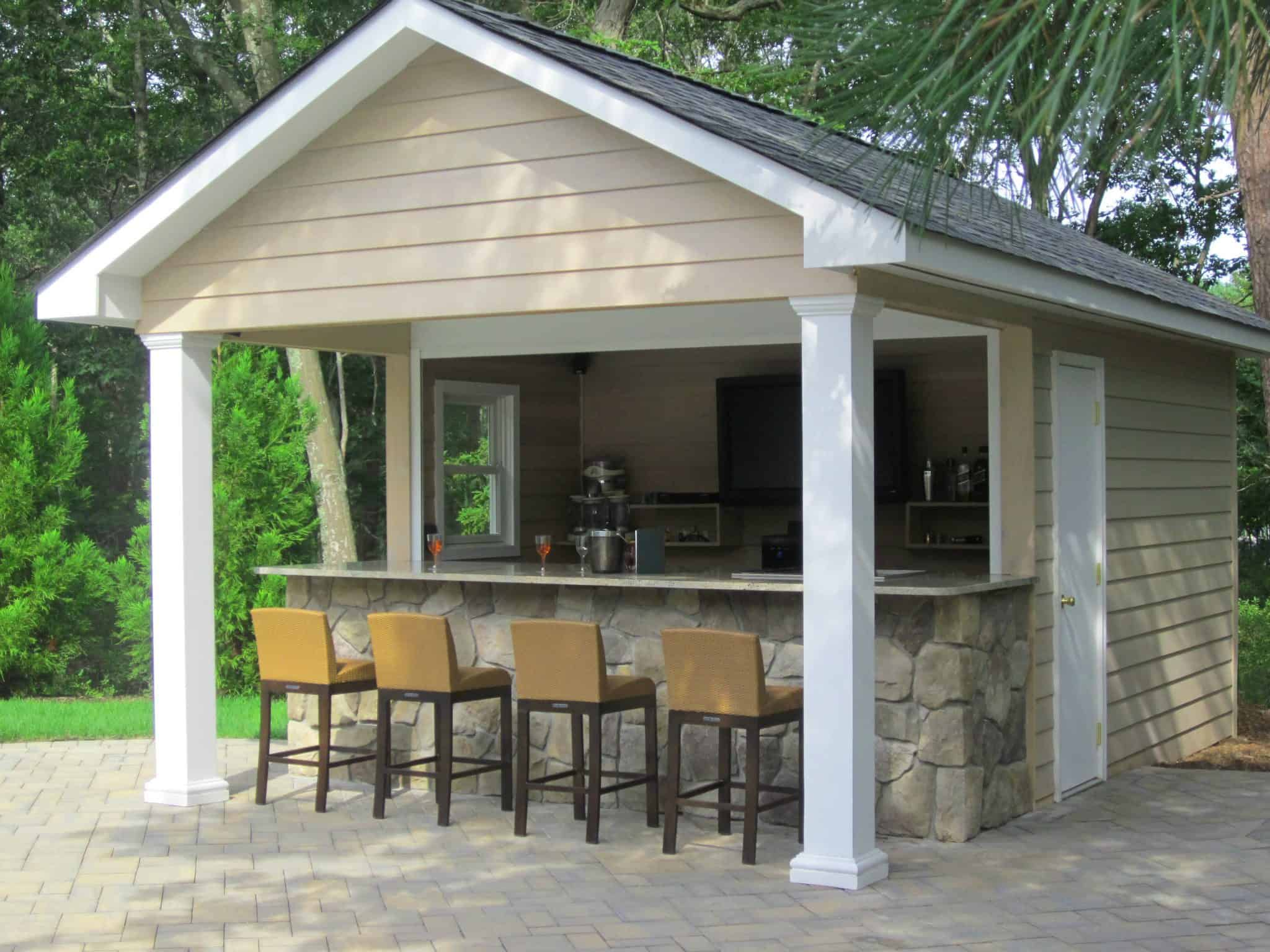 Pool House Plans Custom Carpentry Cabanas And Pool Houses Long Island