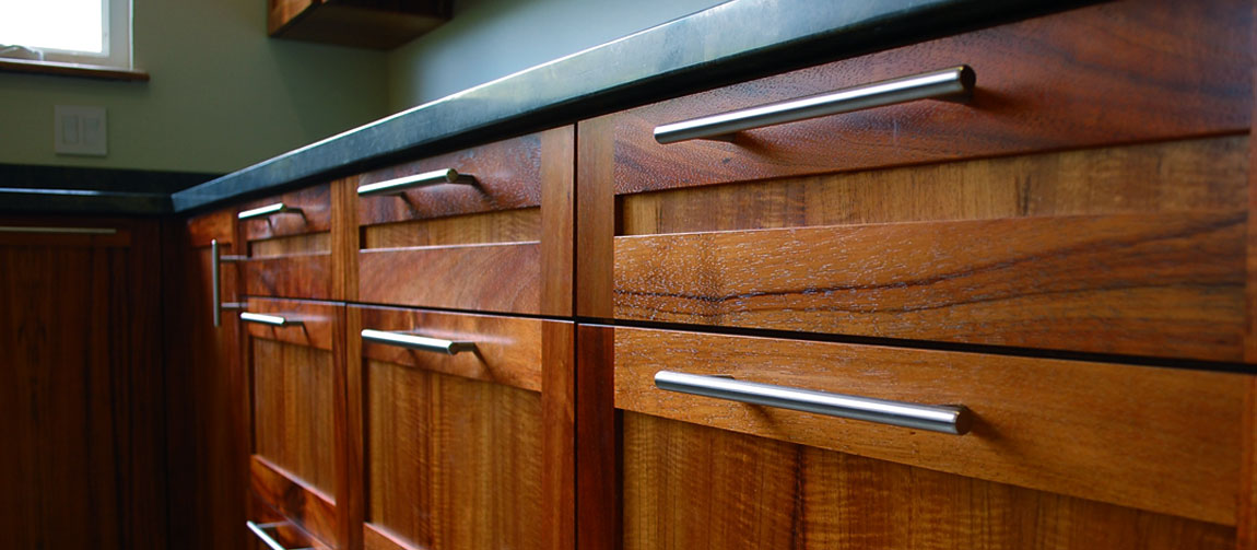 Koa Wood Kitchen Cabinets Custom Woodwork And Furniture - Campbell, Hi | Greenleaf