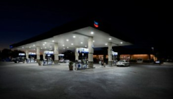 LED lighting gas Station