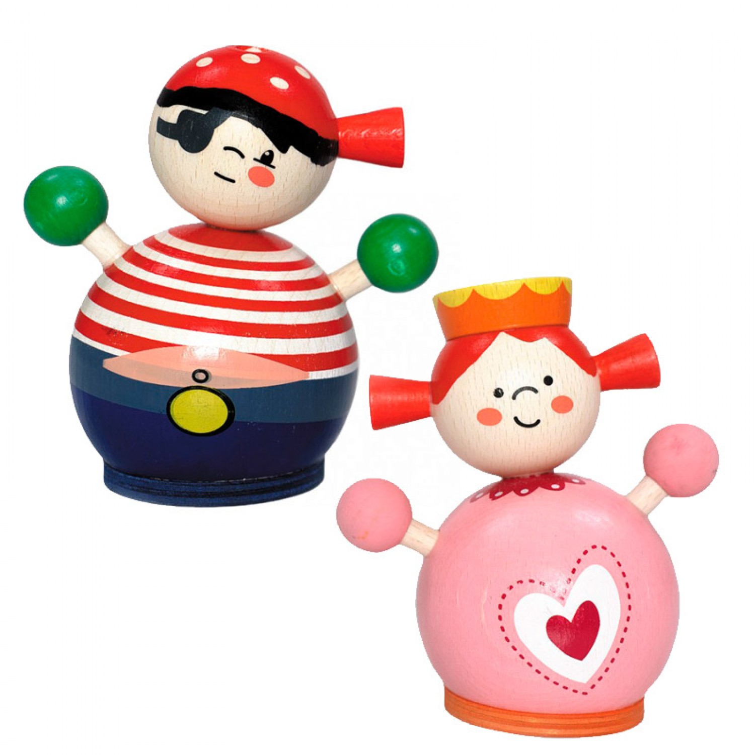 Holzspielzeug Baby Wooden Money Box Princess And Pirate