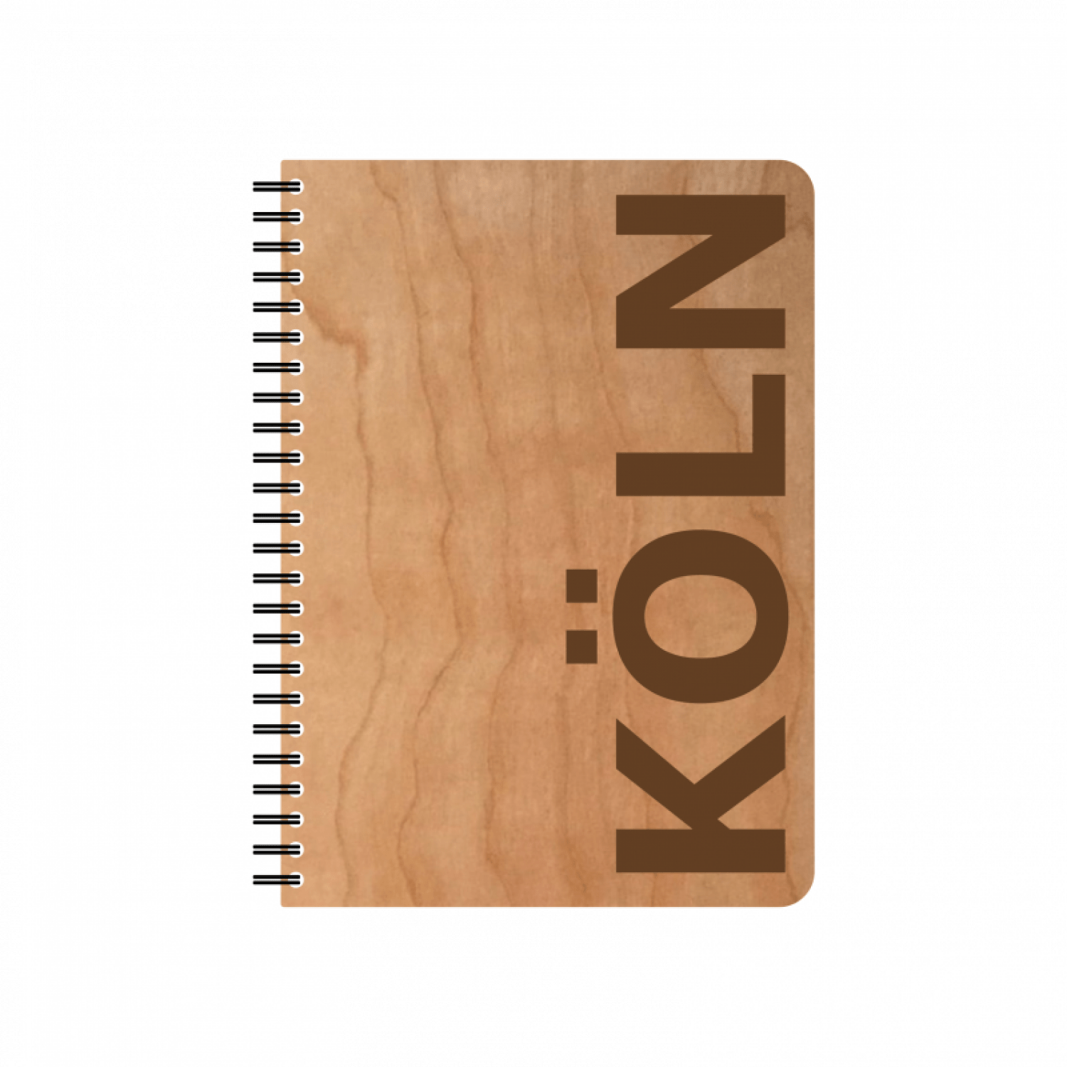 Notebook Köln Eco Notebook Cologne Cherrywood Veneer Cover Fsc Paper Various Formats