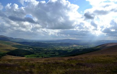 The view from Slievebawn, Co Carlow