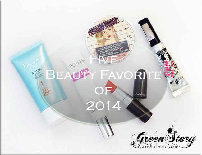 Five Beauty Favourite of 2014