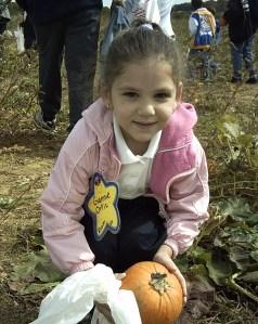 Girl with pumpkin1
